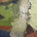 A több rétegben felhordott festék erősen morzsolódott
