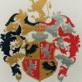 Családi címer festés közben