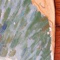 A papírlemez sérült sarka, átvételi állapot
