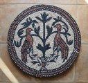 A bizánci mozaikrészlet másolata